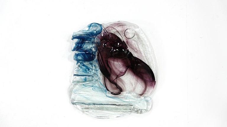Abstract Wall Art Glass Sculpture Studio Glass B. Schagemann For Sale 4