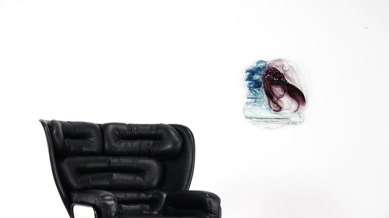 Abstract Wall Art Glass Sculpture Studio Glass B. Schagemann For Sale 3