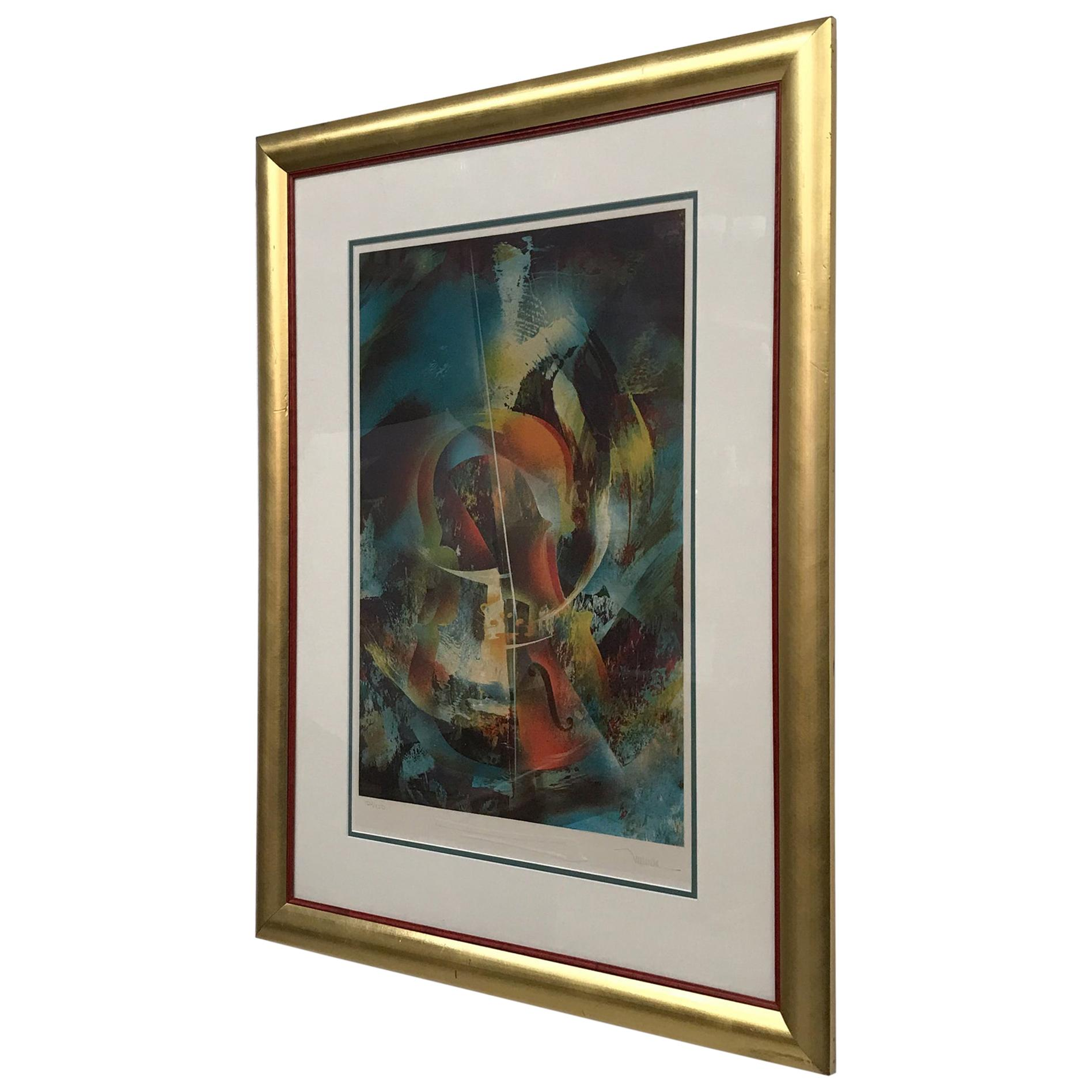 Abstract Wall Art Leonardo Nierman Lithograph #1 Signed 154/200
