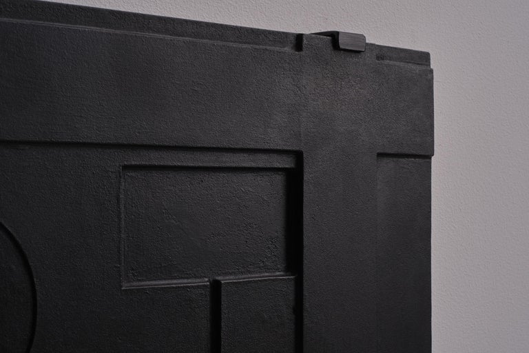 20th Century Abstract Wall Relief in Cast Iron, France, 1960's For Sale