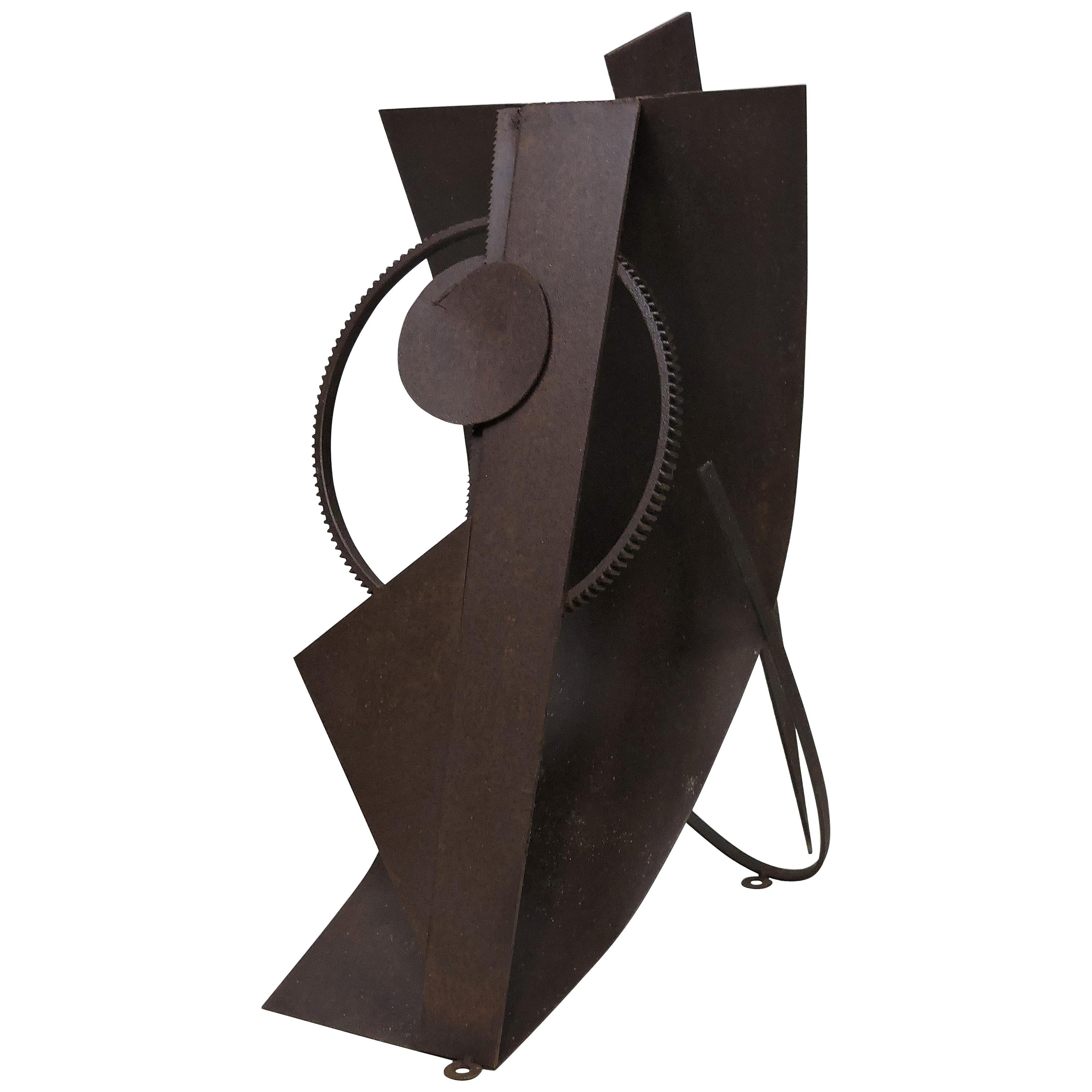 """Abstract Welded Steel Sculpture """"Assemblage I"""" by David Tothero"""