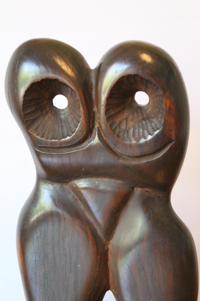 American Abstract Wood Sculpture For Sale