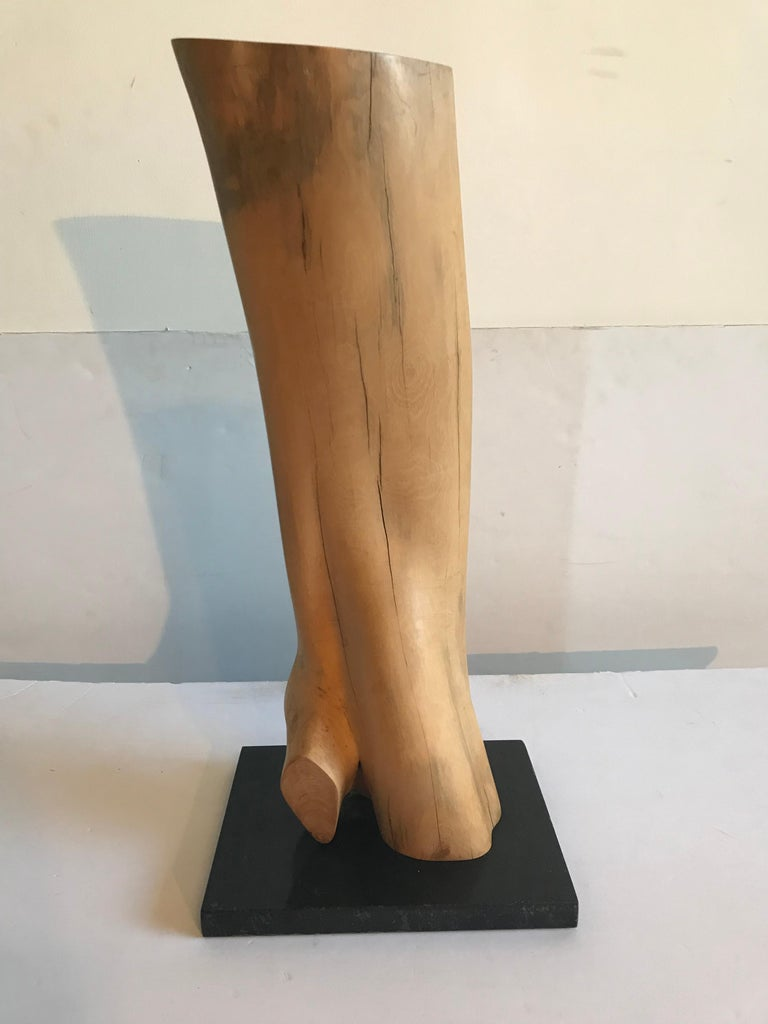 20th Century Abstract Wooden Sculpture by Les Kleinberg For Sale