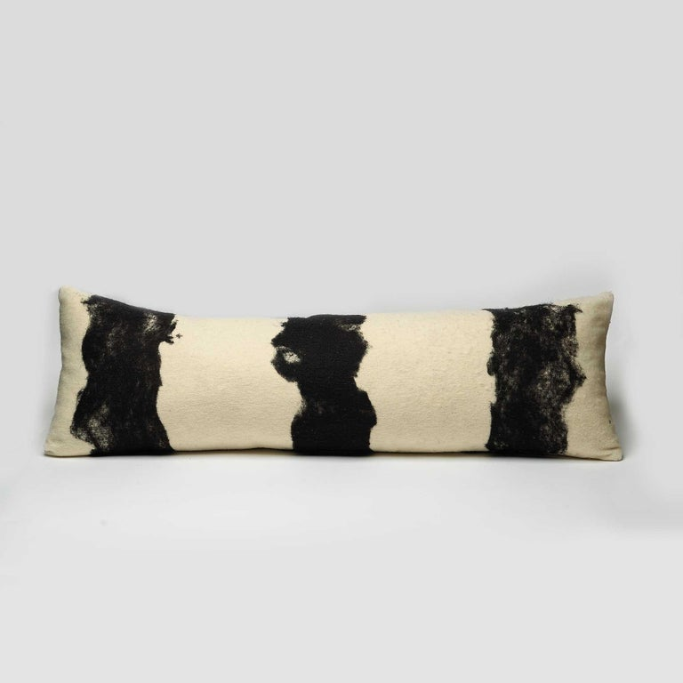 Milled in JG Switzer's design workshop, this pillow is from our Heritage Sheep Collection. Abstract black design is