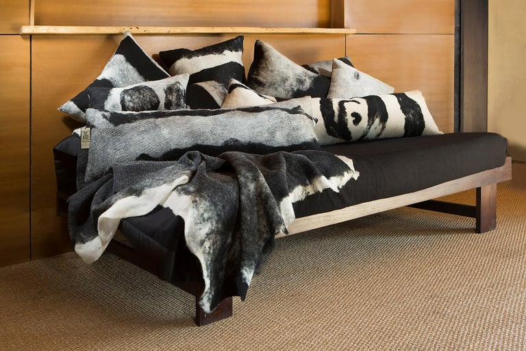 American Abstract Wool Body Pillow - Heritage Sheep Collection For Sale