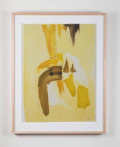 Abstract Yellow Monoprint #18 by Anna Ullman