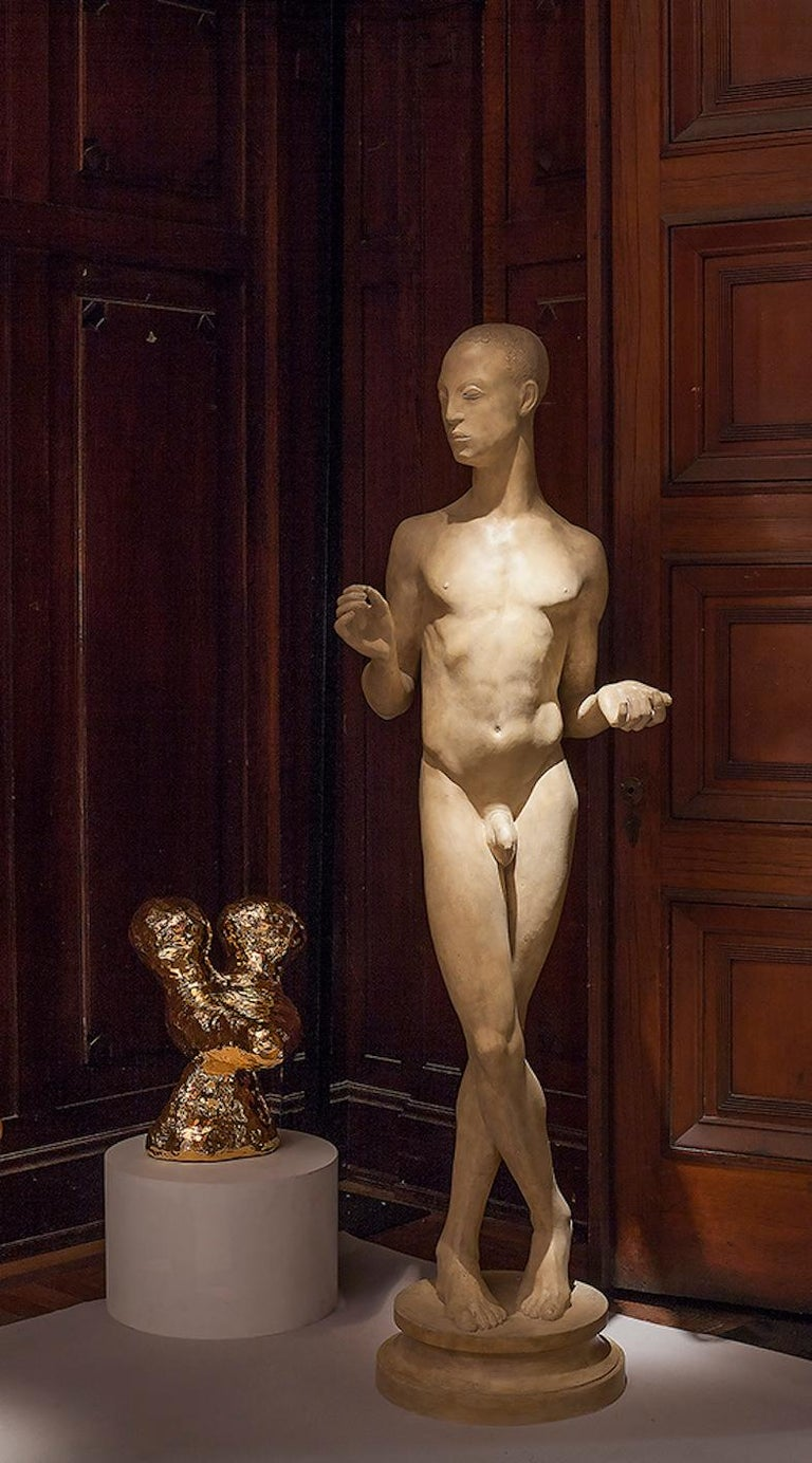 Abyssinian Sculpture by Johannes Bjerg, Denmark, ca. 1915 In Good Condition For Sale In New York, NY