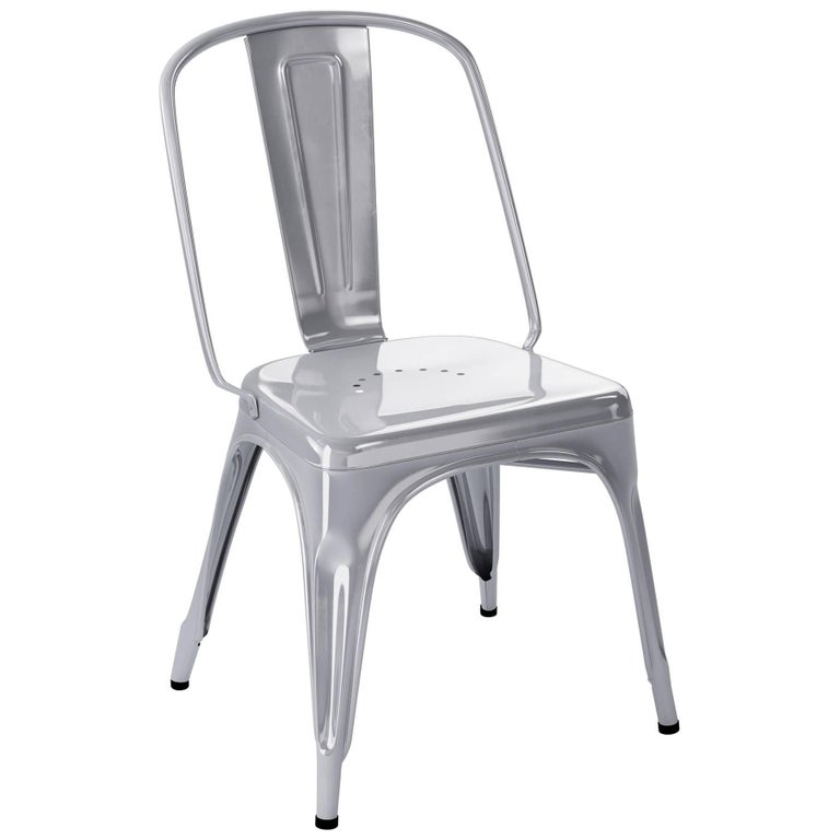 AC Chair in Glossy Warm Grey by Xavier Pauchard & Tolix For Sale