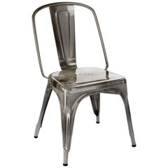 AC Chair in Steel with Tinted Lacquer by Xavier Pauchard & Tolix