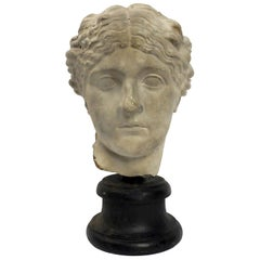Academic Cast of a Roman Women's Head, Italy, circa 1890