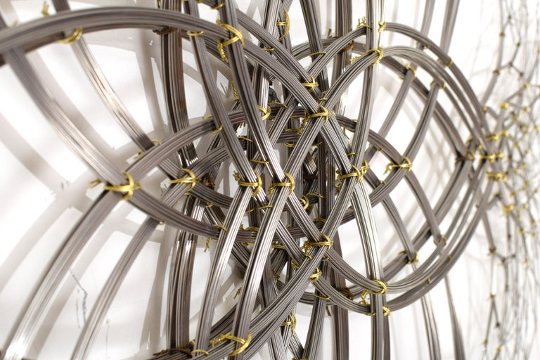 Modern Wall Sculpture in Stainless Steel, 'Acamar' by Kue King #597 For Sale