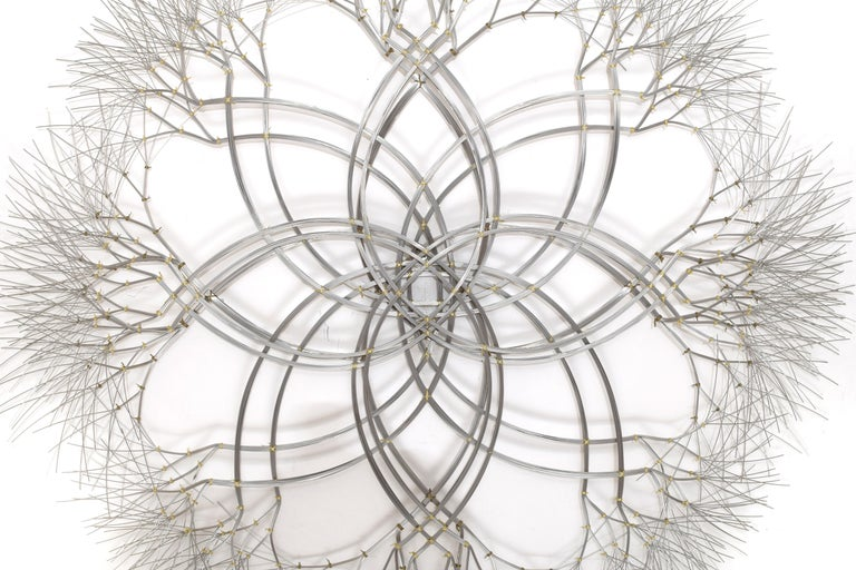 American Wall Sculpture in Stainless Steel, 'Acamar' by Kue King #597 For Sale