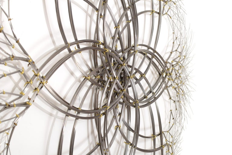 Hand-Crafted Wall Sculpture in Stainless Steel, 'Acamar' by Kue King #597 For Sale