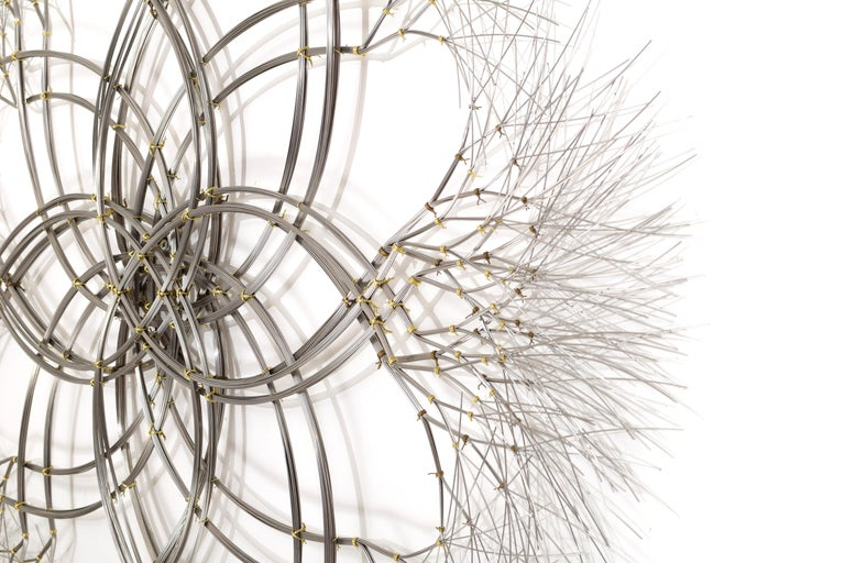Contemporary Wall Sculpture in Stainless Steel, 'Acamar' by Kue King #597 For Sale