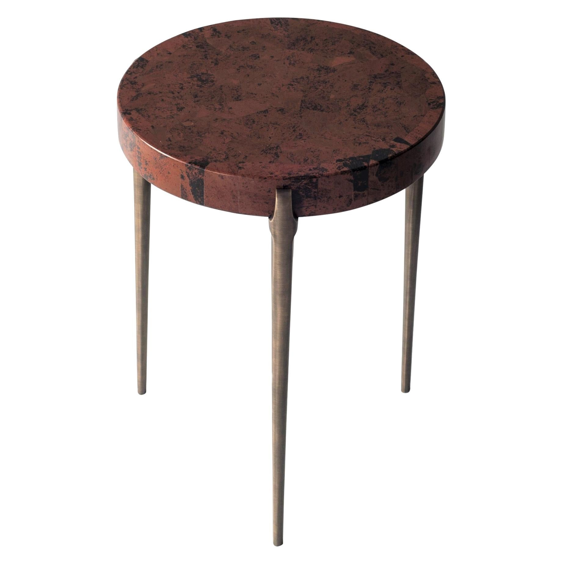 Acantha Side Table in Marconi Stone by DeMuro Das