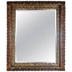 Acanthus Leaves Rectangular Giltwood Mirror, 20th Century