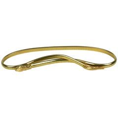 Accessocraft Gilt Stretch Snake Belt