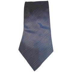 Accessori blue and gold multicoloured silk tie