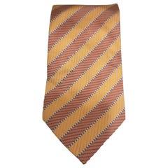Accessori orange pink multicoloured silk tie