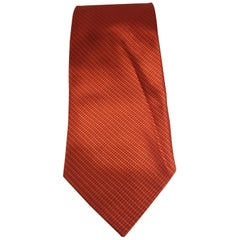 Accessori orange silk tie
