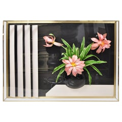 Accessory Art Midcentury Lucite Plexiglas Wall Art Flower Vase Shadow Box