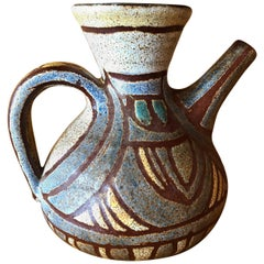 Accolay Ceramic Jug, France, 1960s