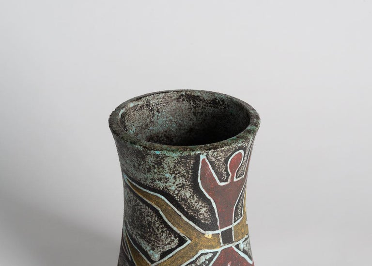 French Accolay, Ceramic Vase, France, circa Midcentury For Sale