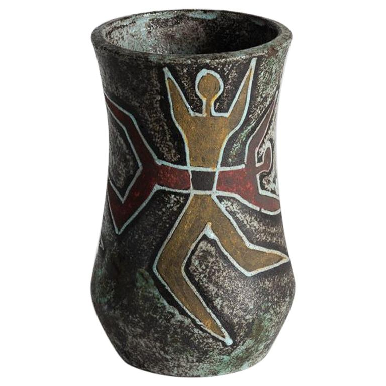 Accolay, Ceramic Vase, France, circa Midcentury