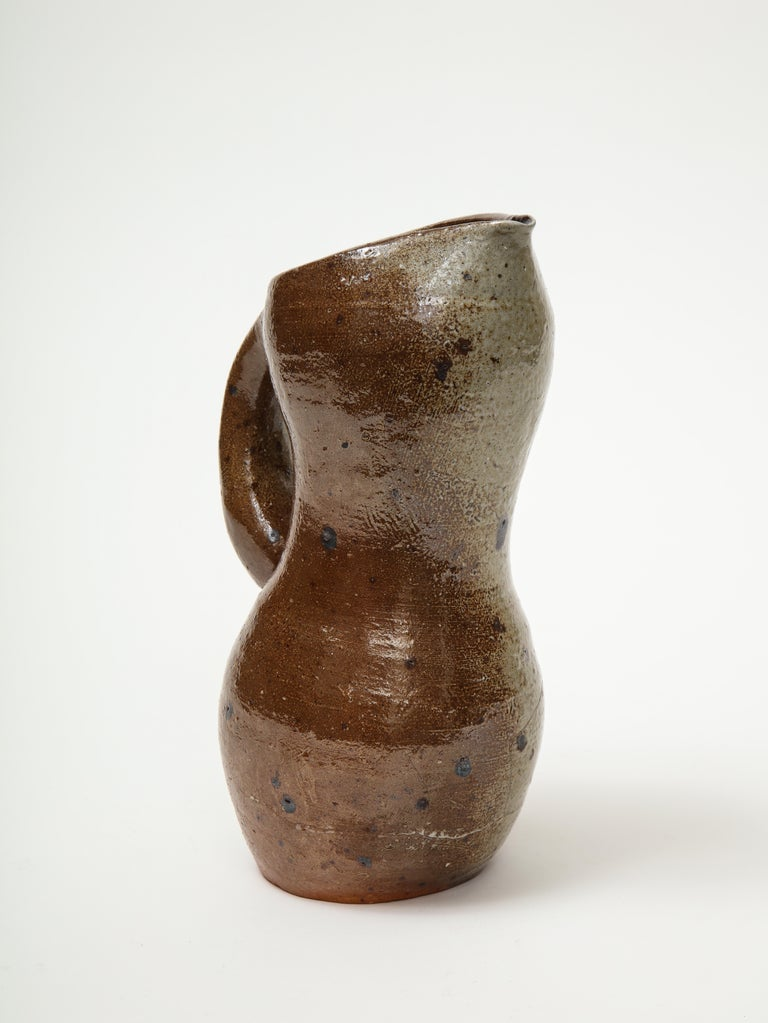 Glazed Accolay Ceramic Water Jug For Sale