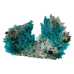 Acculturation, a Glass Sculpture in Clear, Teal and Black by Nina Casson McGarva