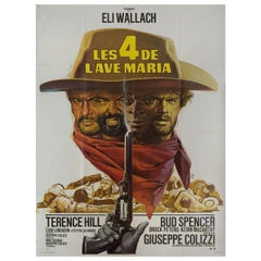 Ace High R1970s French Grande Film Poster