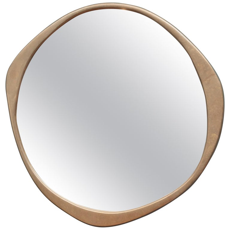 A.Cepa Bronze Patinated Large Wall Mirror For Sale