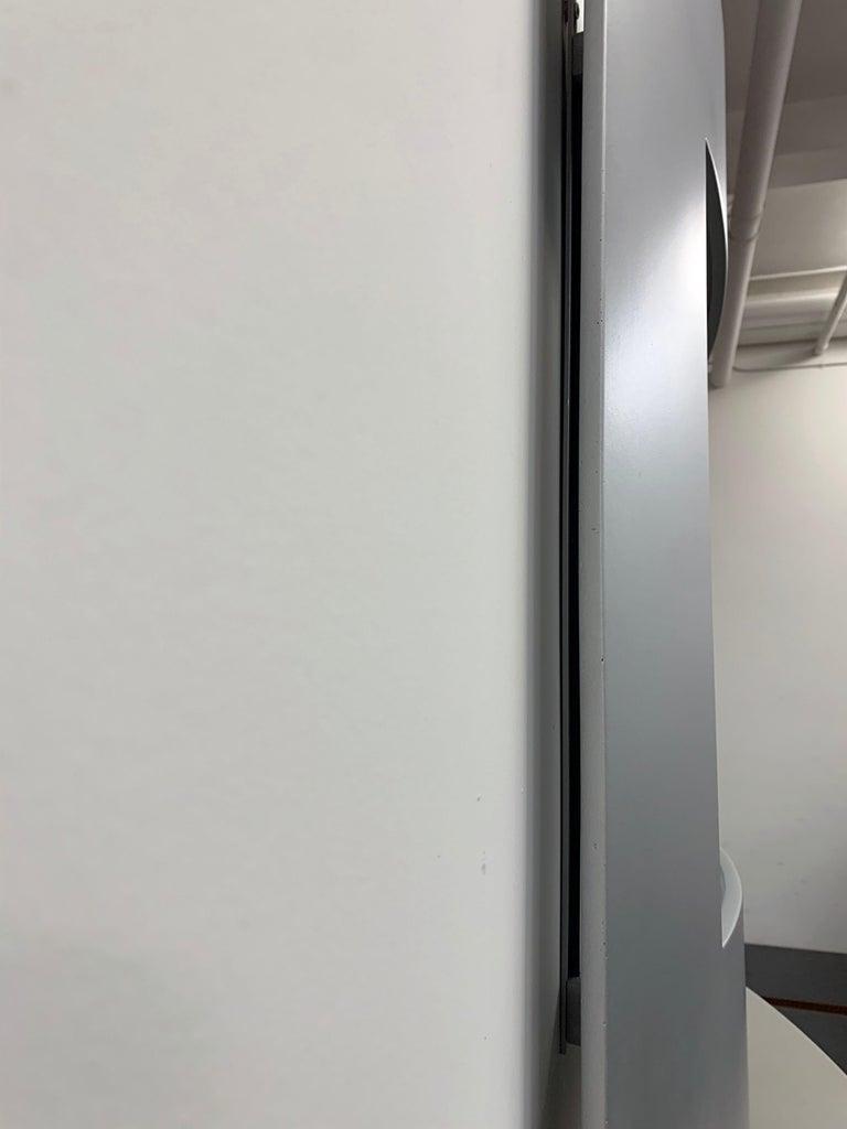 Glass Acerbis Wall Mirror and Bobilla Shelves by Enrico Baleri For Sale