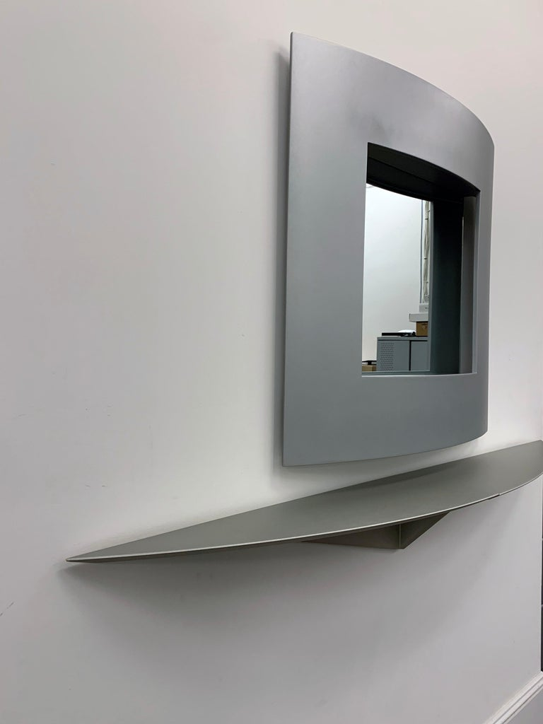 Acerbis Wall Mirror and Bobilla Shelves by Enrico Baleri For Sale 3