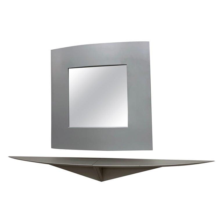 Acerbis Wall Mirror and Bobilla Shelves by Enrico Baleri For Sale