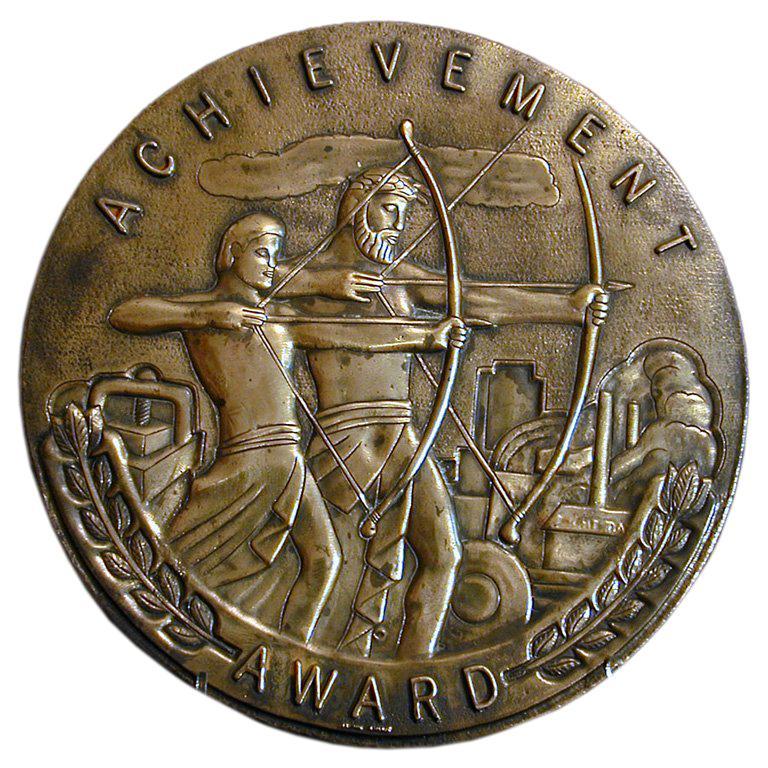 """Achievement Bronze Plaque, 9"""" diameter"""