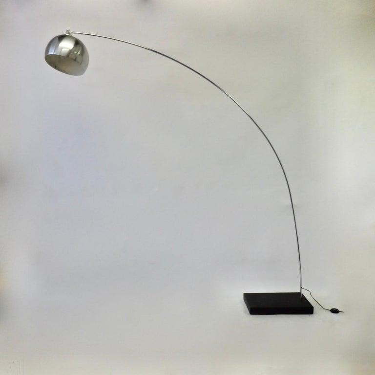 Achille and Pierre Giacomo Castiglioni Styled Arco Lamp For Sale 4
