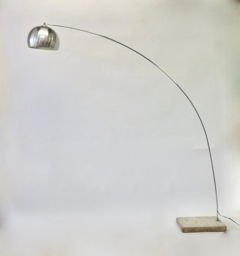 Mid-Century Modern Achille and Pierre Giacomo Castiglioni Styled Arco Lamp For Sale