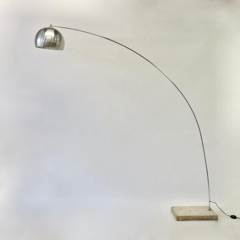 Italian Achille and Pierre Giacomo Castiglioni Styled Arco Lamp For Sale