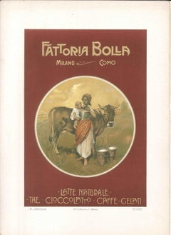Fattoria Bolla - Vintage Advertising Lithograph by Achille Beltrame - 1910 ca.