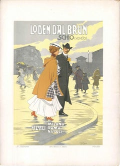 Loden Dal Brun - Vintage Advertising Lithograph by Achille Beltrame - 1910 ca.
