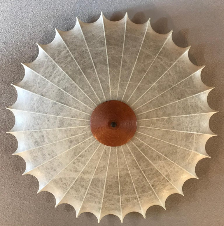 Achille Castiglioni 1960s Italian Flush Ceiling Light For Sale 8