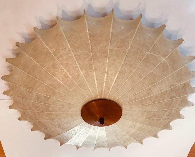 Mid-Century Modern Achille Castiglioni 1960s Italian Flush Ceiling Light For Sale