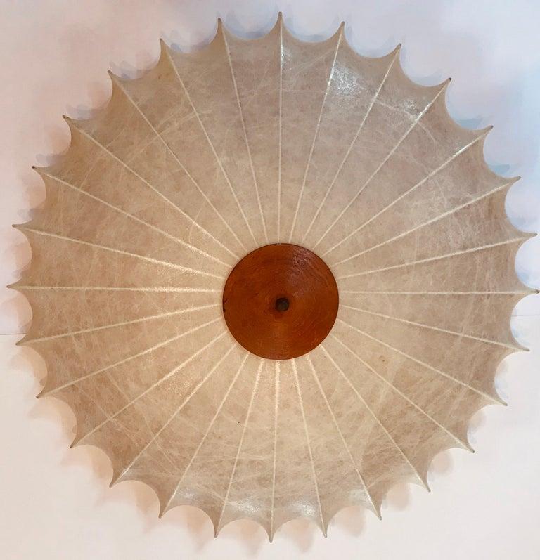 Achille Castiglioni 1960s Italian Flush Ceiling Light In Good Condition For Sale In New York, NY