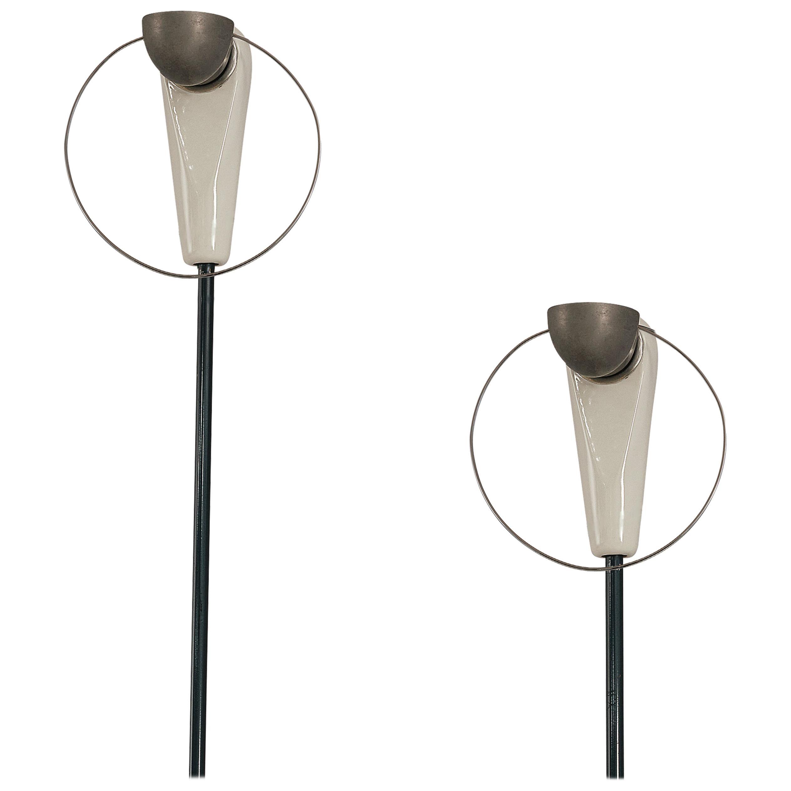 Achille Castiglioni for Flos Floor Lamps Model 'Bi Bip'