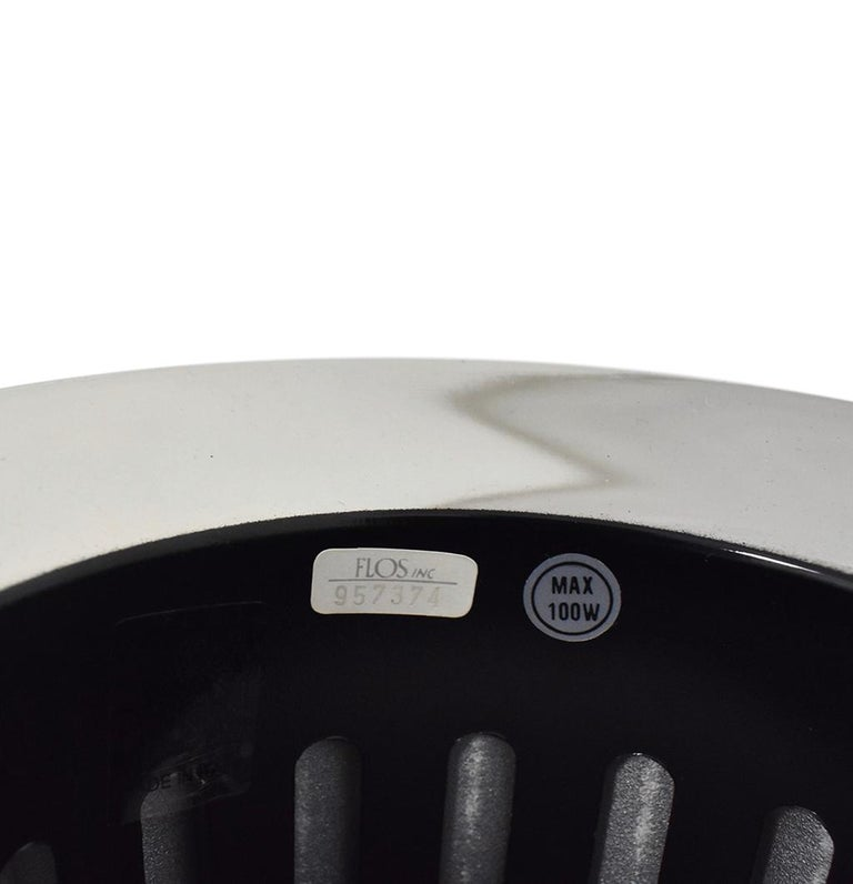 Aluminum Achille Castiglioni for Flos Italian Modern 'Taccia' Table Lamp, Large, Silver For Sale