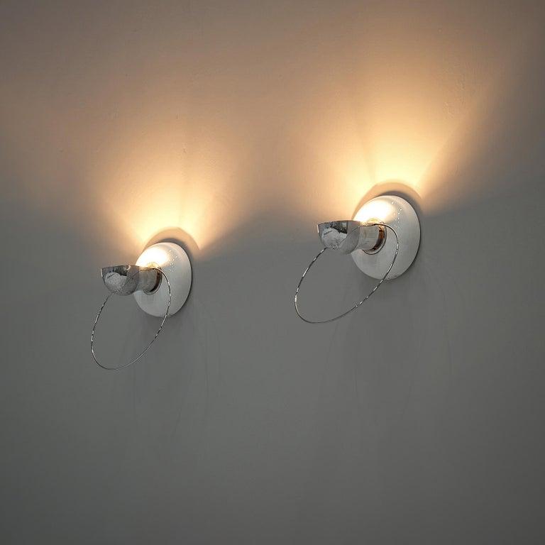 Italian Achille Castiglioni for Flos Wall Lamps Model 'Bi Bip' For Sale