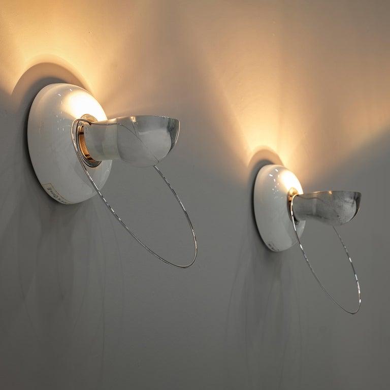 Late 20th Century Achille Castiglioni for Flos Wall Lamps Model 'Bi Bip' For Sale