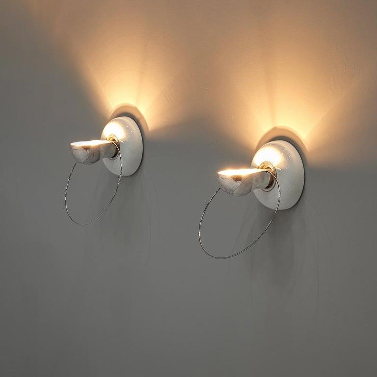 Metal Achille Castiglioni for Flos Wall Lamps Model 'Bi Bip' For Sale