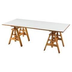 Achille Castiglioni for Zanotta Adjustable Table 'Leonardo' in Beech